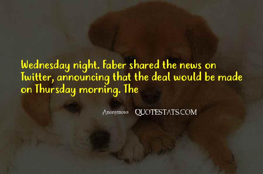Quotes About Wednesday Night #452518