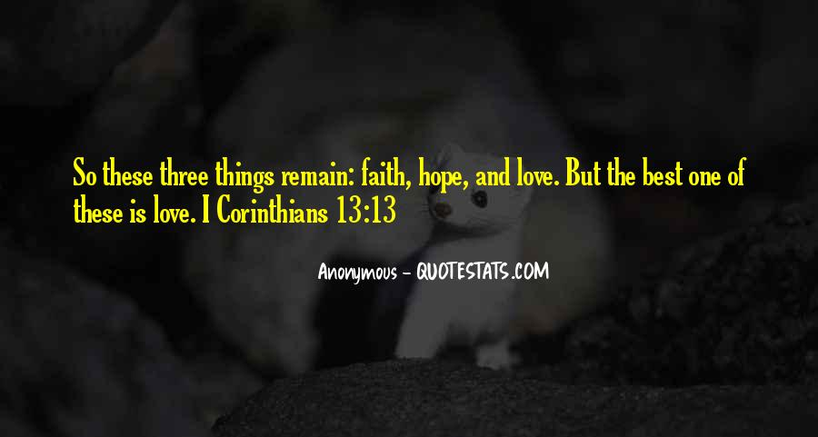 Quotes About Faith Love And Hope #365001