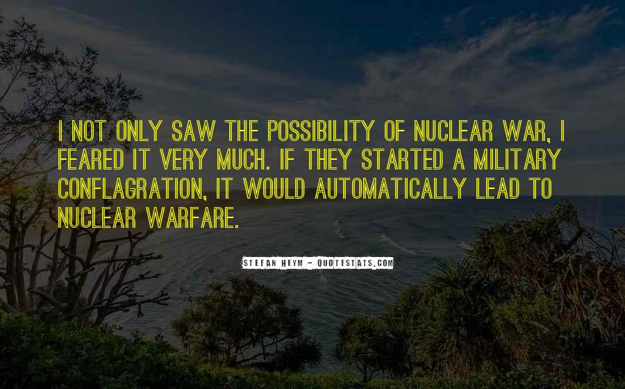 Quotes About Nuclear War #206045