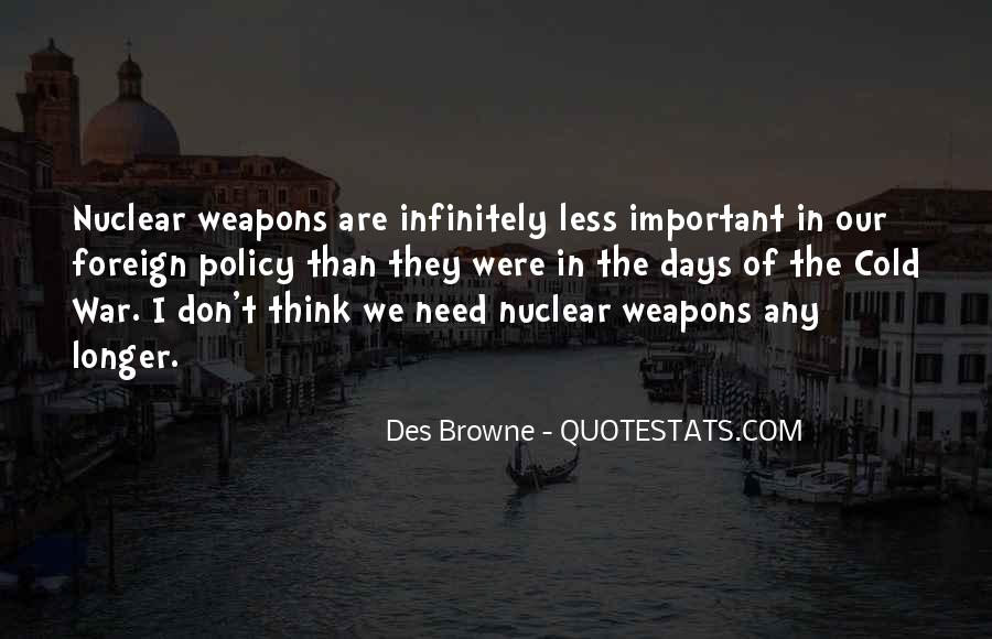 Quotes About Nuclear War #450924