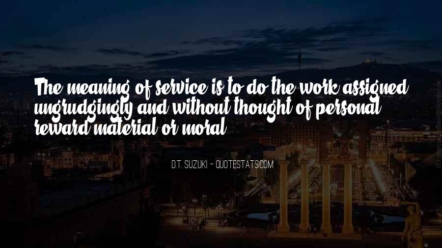 Quotes About Personal Service #1812526