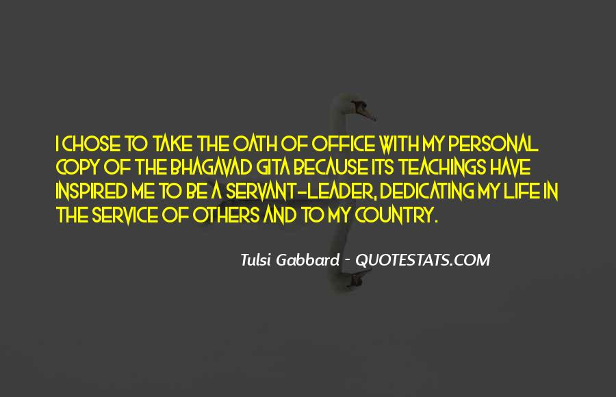 Quotes About Personal Service #269293