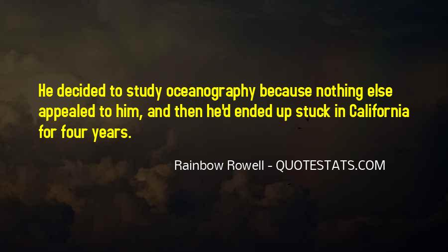 Quotes About Oceanography #748837