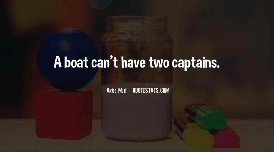 Quotes About Boat Captains #1560032