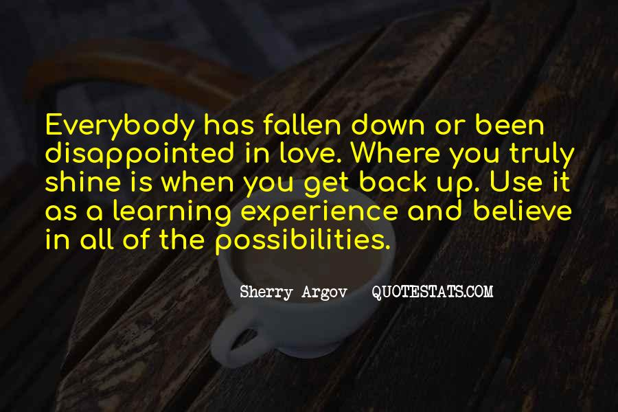 Quotes About Being Disappointed In The One You Love #412681