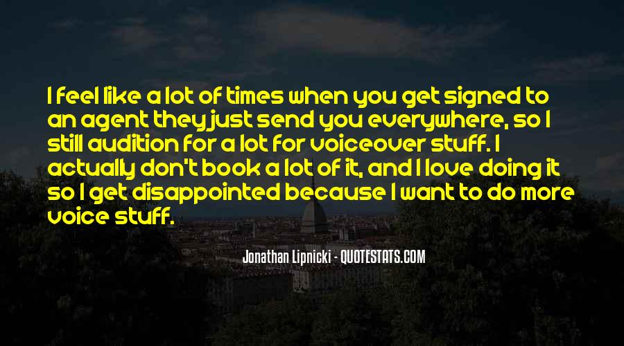 Quotes About Being Disappointed In The One You Love #53853