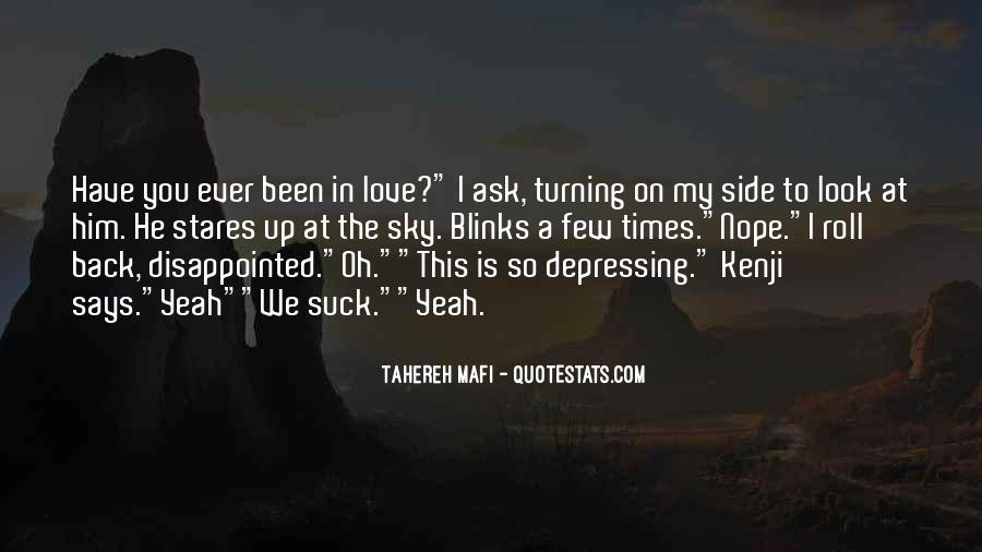 Quotes About Being Disappointed In The One You Love #581512