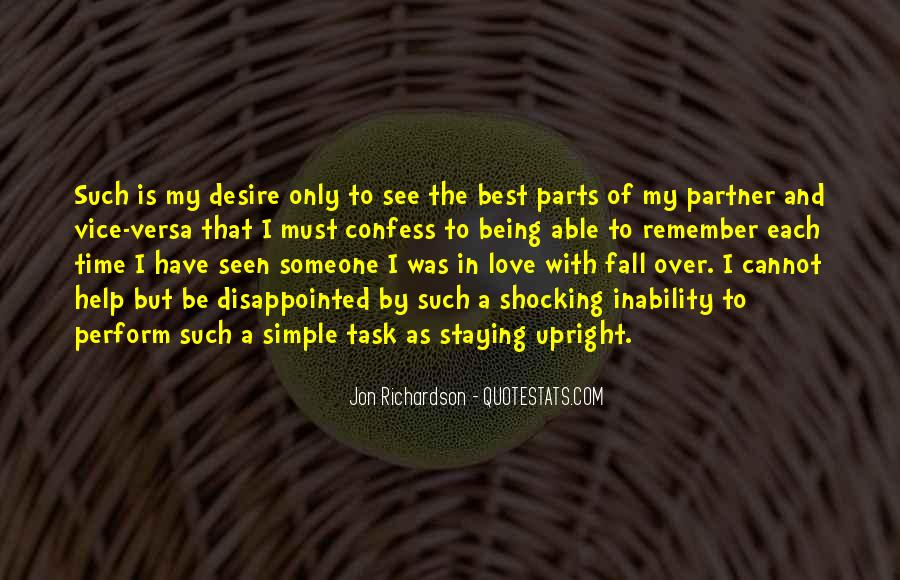 Quotes About Being Disappointed In The One You Love #691331