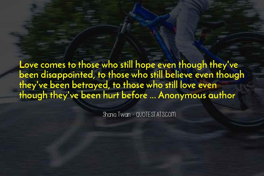 Quotes About Being Disappointed In The One You Love #878881