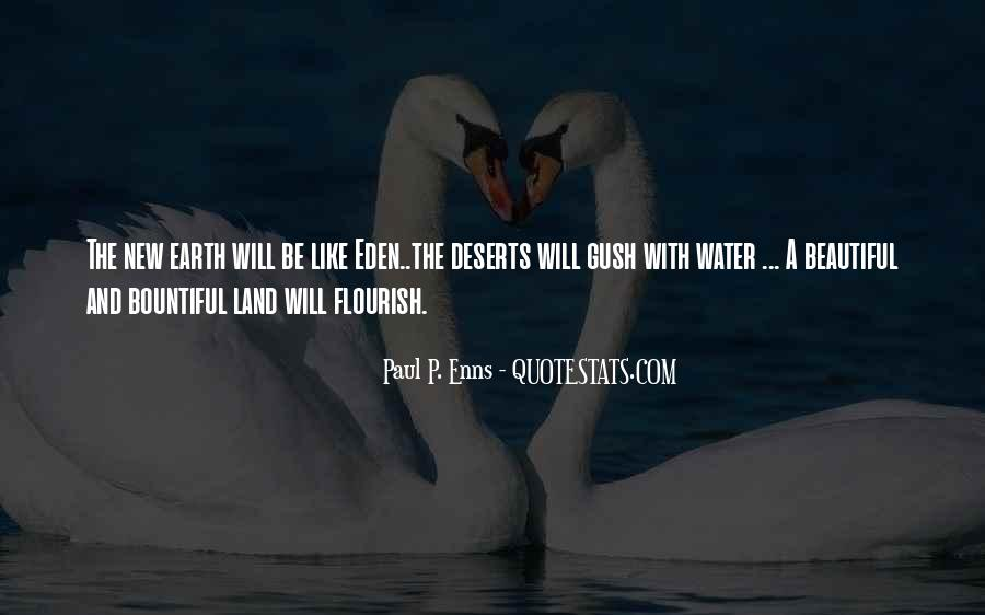 Quotes About Land And Water #1291166