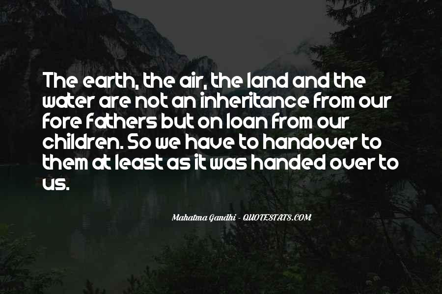 Quotes About Land And Water #891158