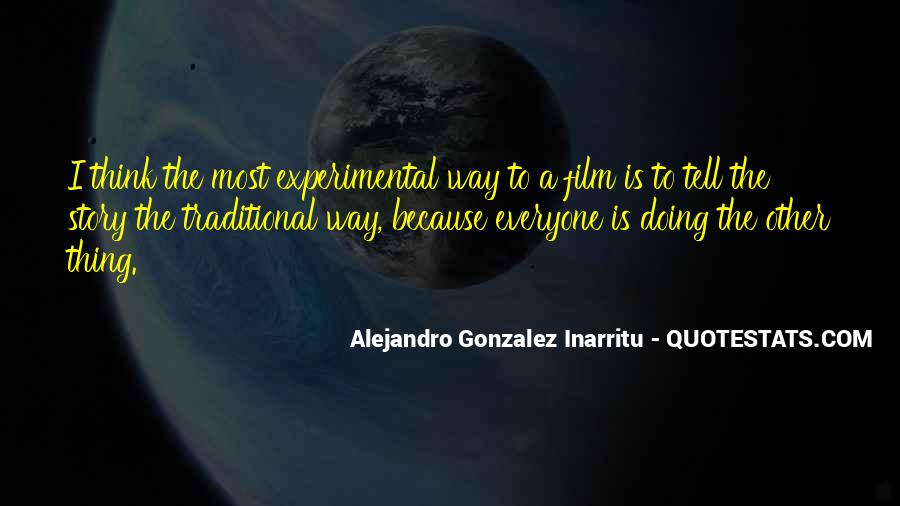Quotes About Experimental Film #1708174