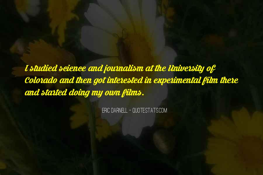 Quotes About Experimental Film #733010