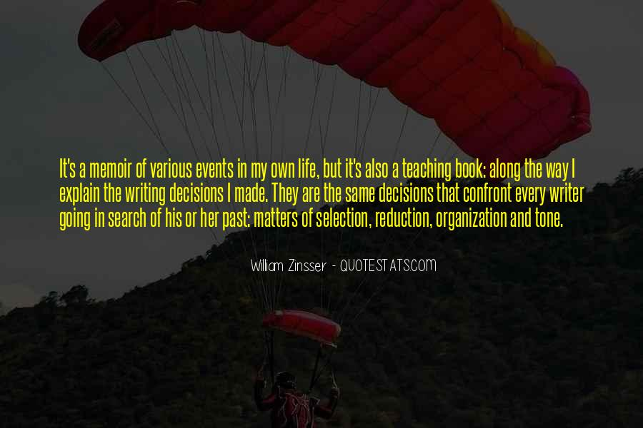 Quotes About Writing And Life #125142