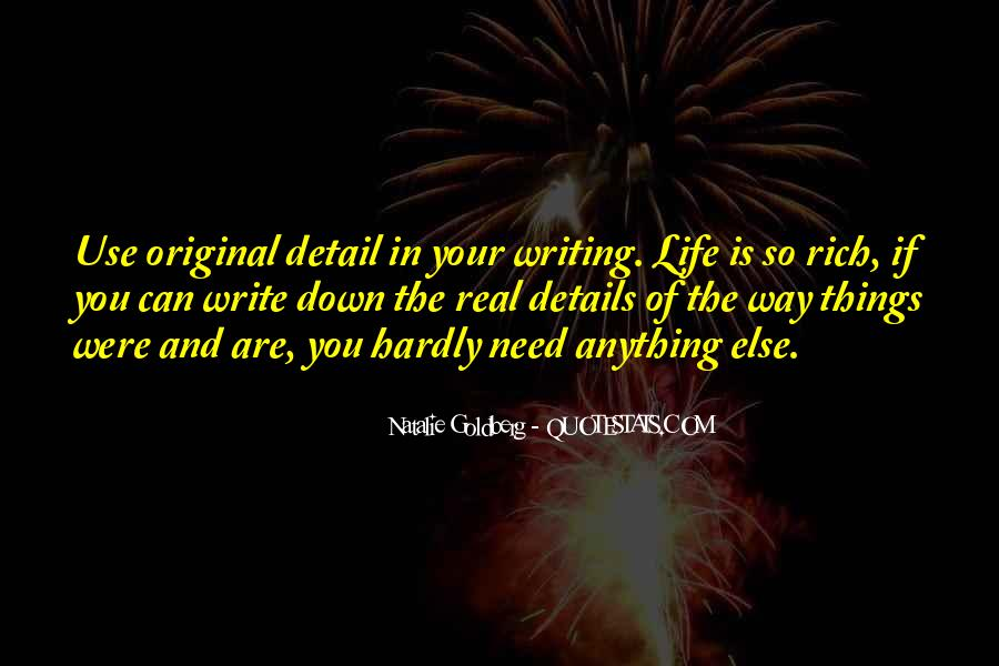 Quotes About Writing And Life #35944