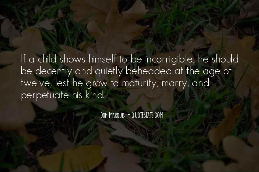 Quotes About Maturity And Age #1623163