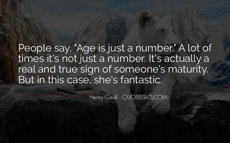 Quotes About Maturity And Age #183559