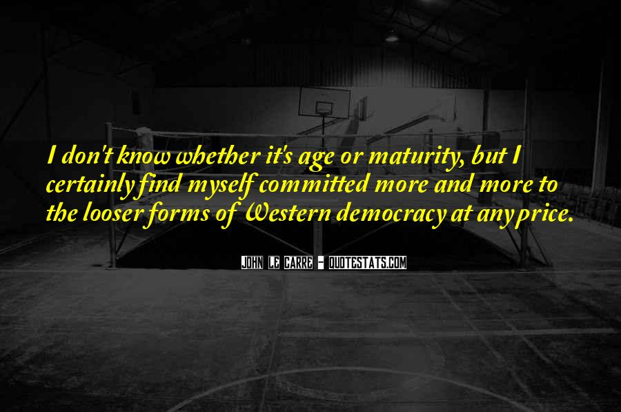 Quotes About Maturity And Age #32118