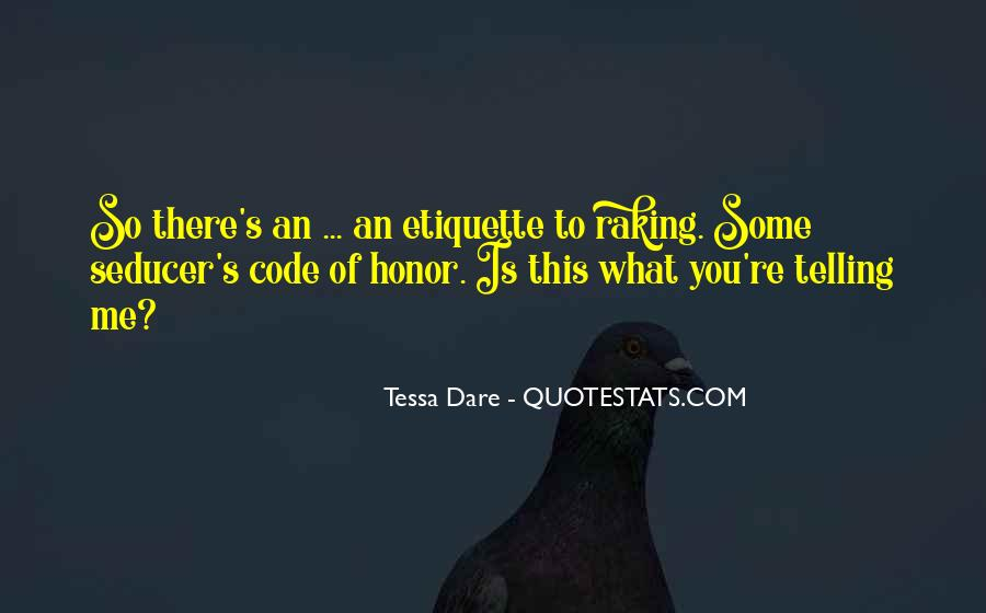 Quotes About Code Of Honor #140469