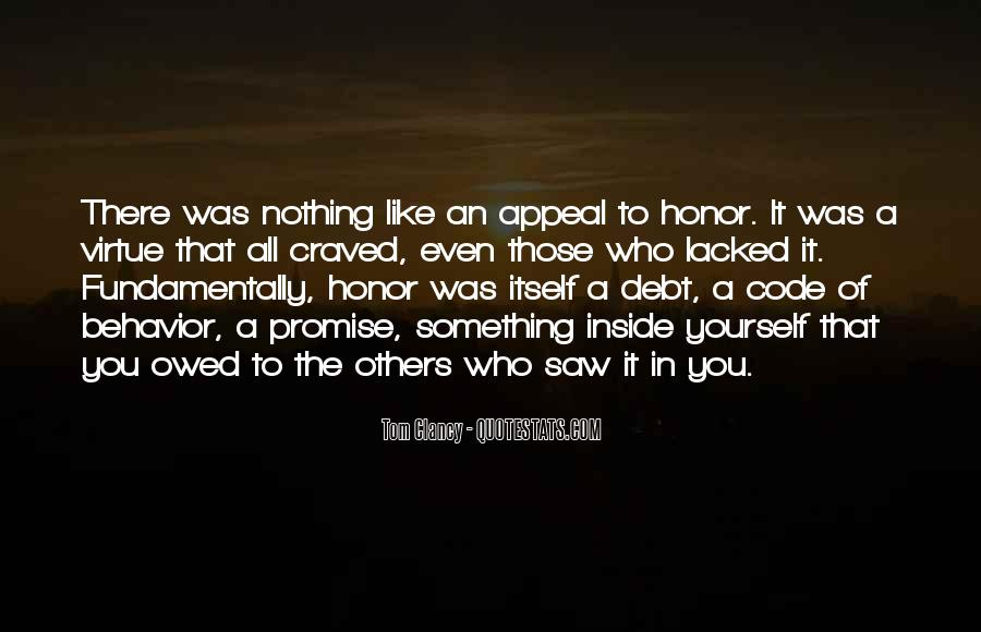 Quotes About Code Of Honor #1517128