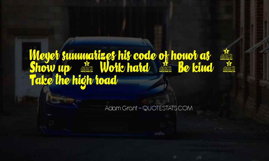 Quotes About Code Of Honor #700591