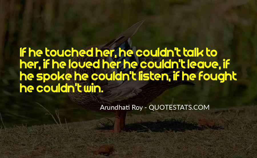 Quotes About Touched #13019