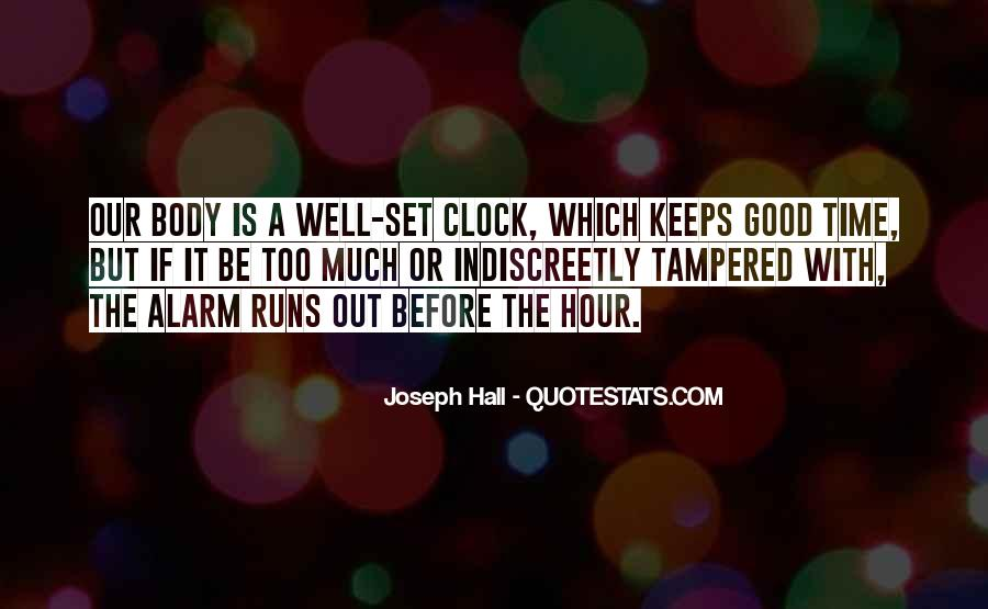 Quotes About Body Clock #976232