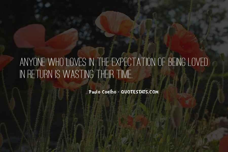 Quotes About Wasting Time On Love #151209