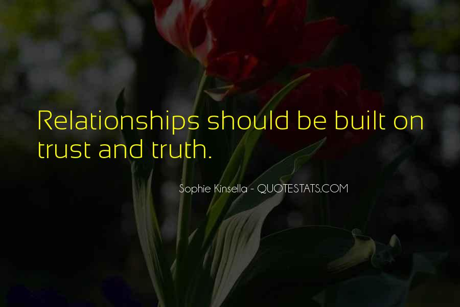 Quotes About Trust And Relationships #171297