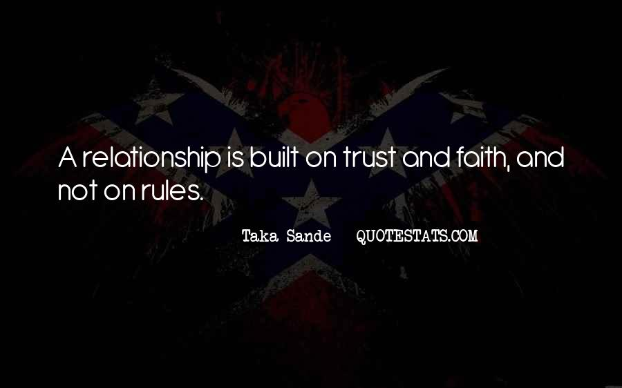Quotes About Trust And Relationships #171358