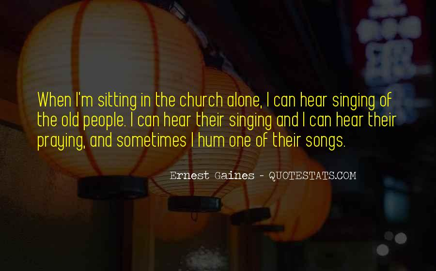 Quotes About Sitting Alone #1004455