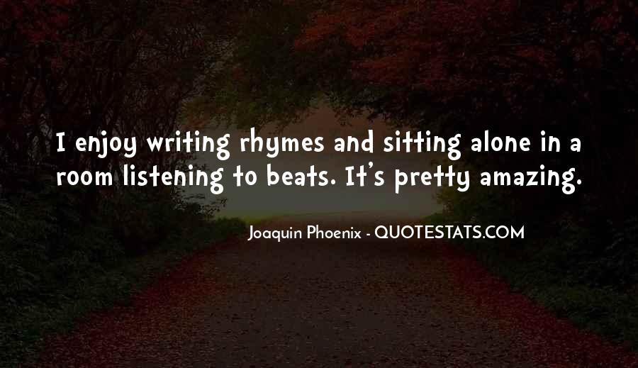 Quotes About Sitting Alone #1167762