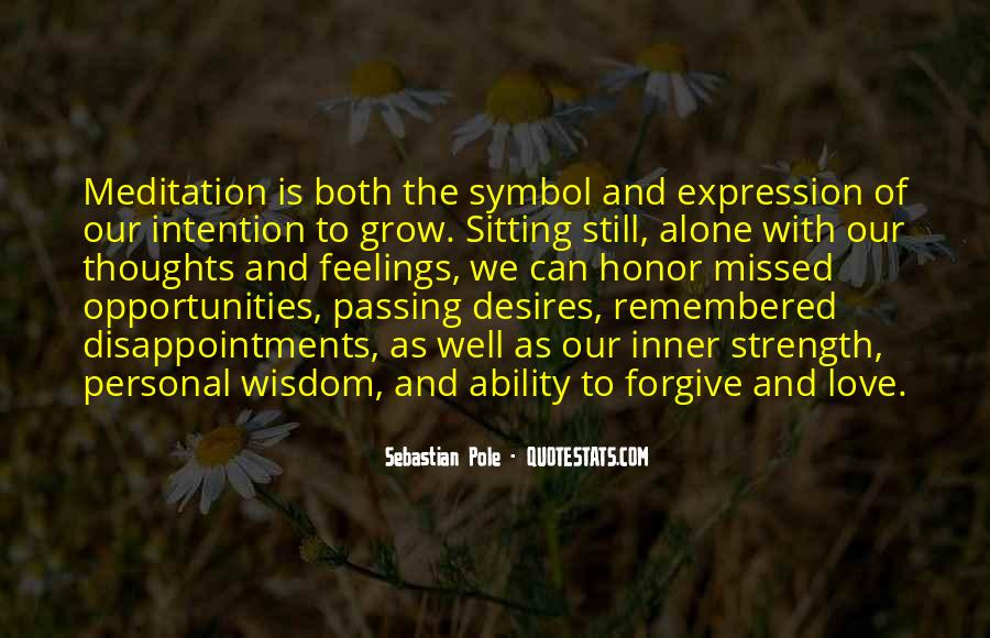 Quotes About Sitting Alone #1568645