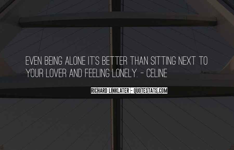 Quotes About Sitting Alone #1829266