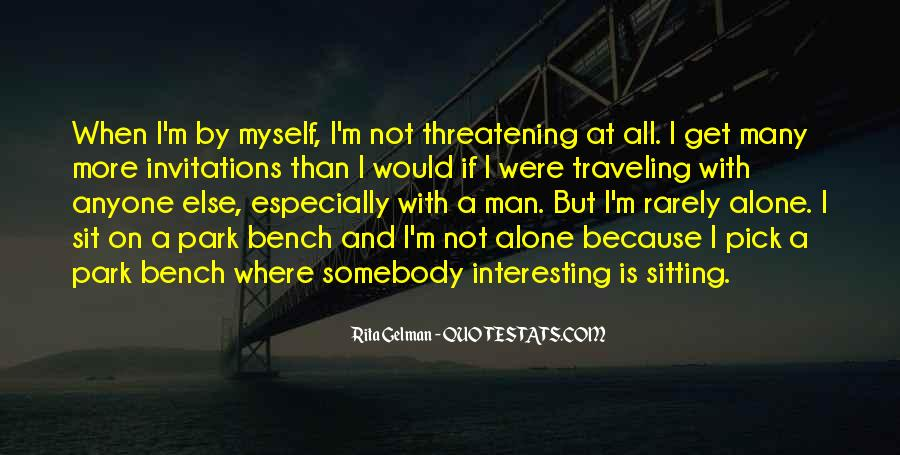 Quotes About Sitting Alone #195305