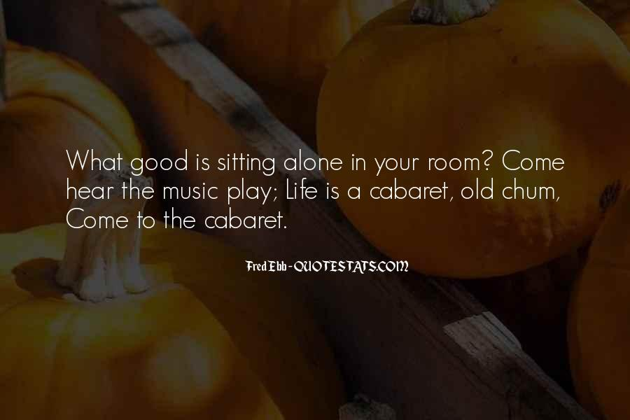 Quotes About Sitting Alone #387668
