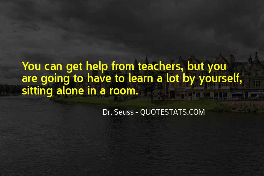 Quotes About Sitting Alone #568133