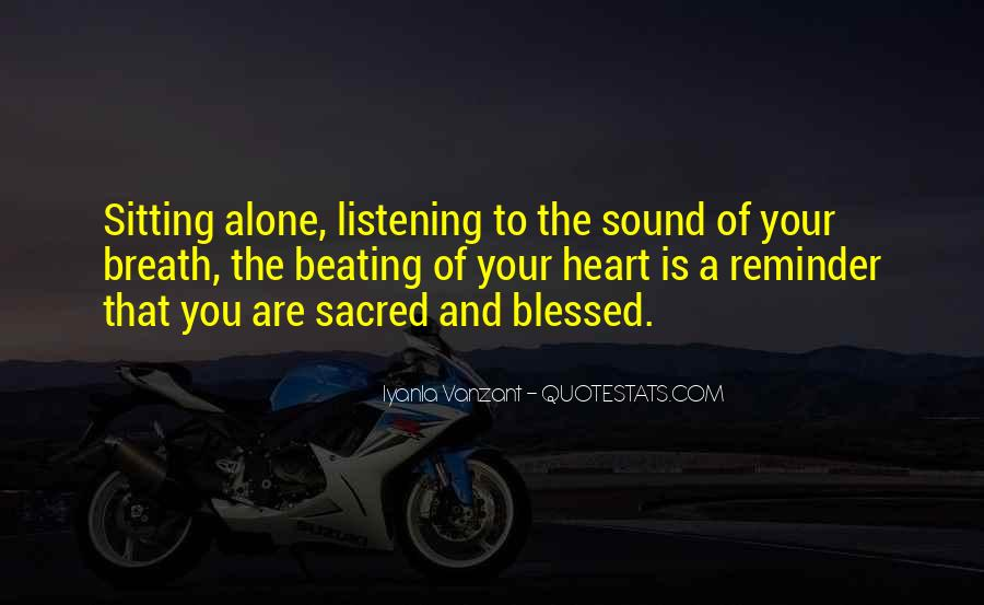 Quotes About Sitting Alone #746081