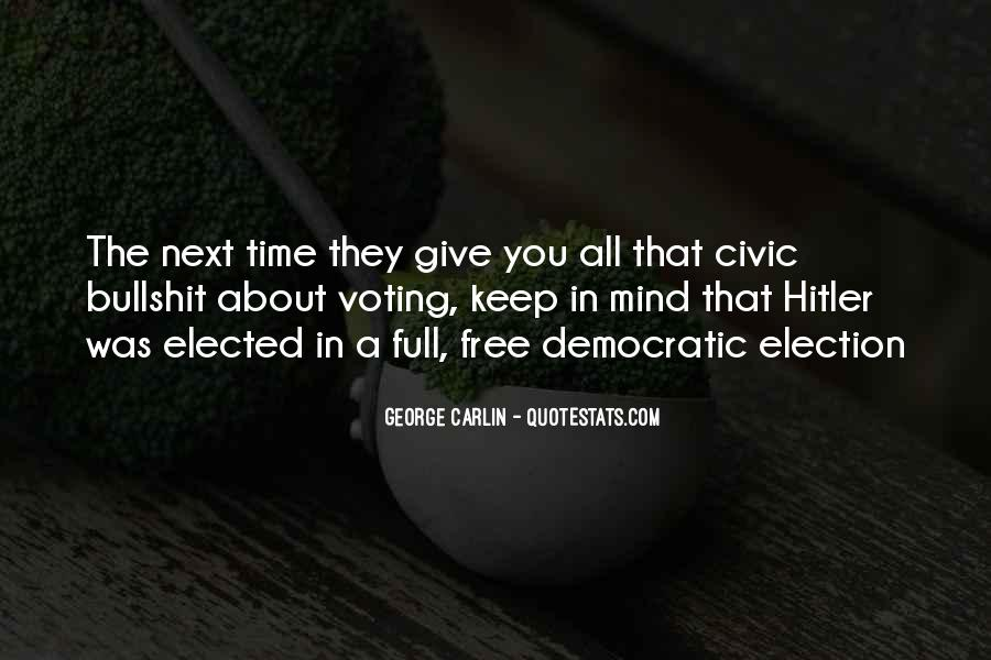 Quotes About Election And Voting #195317