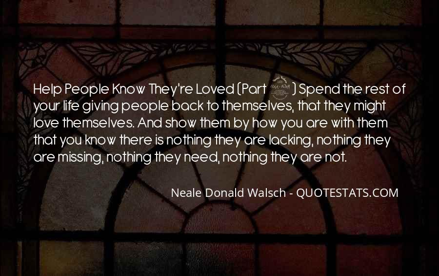 Quotes About Not Loved Back #1382833