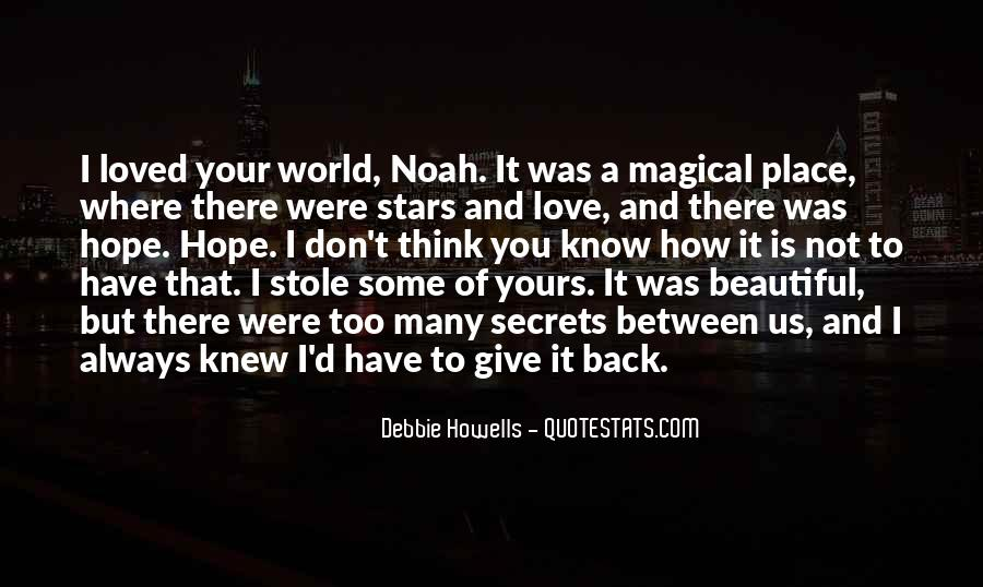 Quotes About Not Loved Back #620697