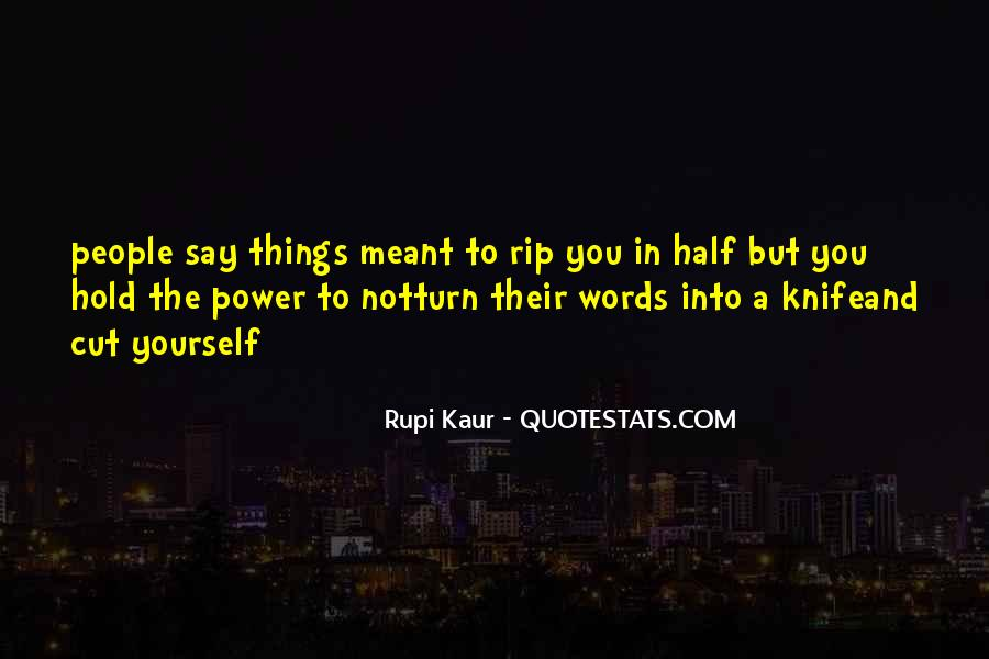 Quotes About Words And Power #135554