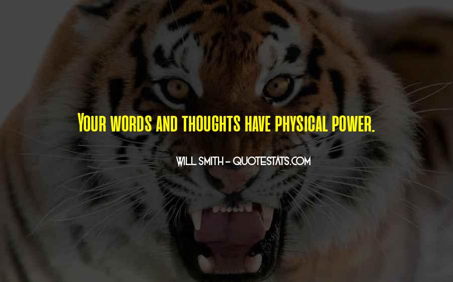 Quotes About Words And Power #15562