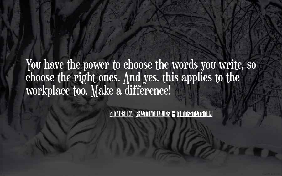Quotes About Words And Power #58863