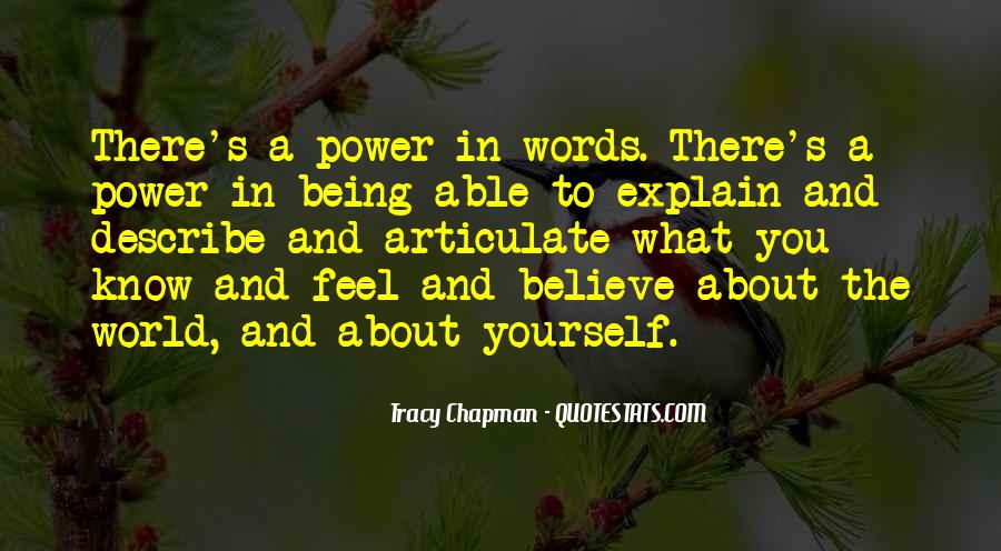 Quotes About Words And Power #7402
