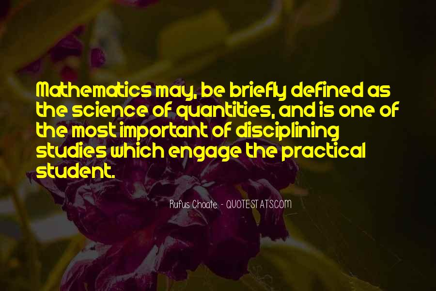 Quotes About Mathematics And Science #1089480