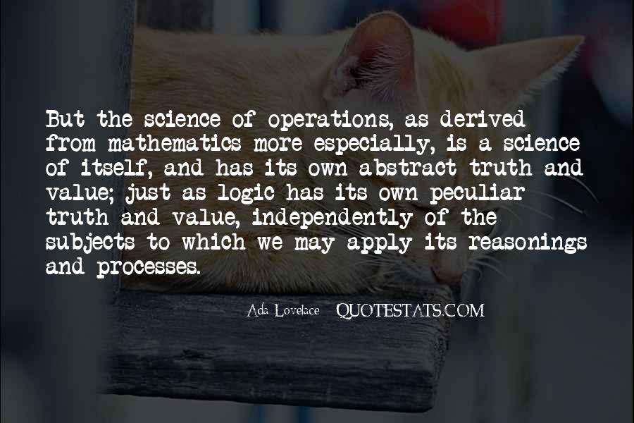 Quotes About Mathematics And Science #510563