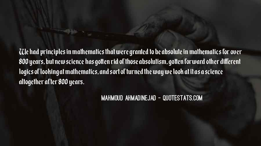 Quotes About Mathematics And Science #640141