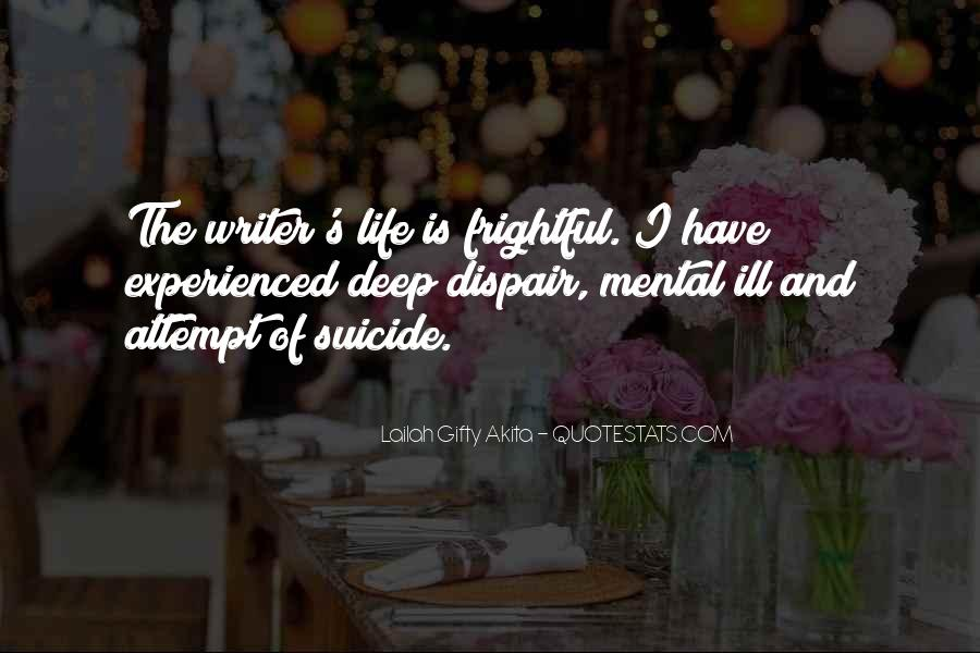 Quotes About Writers And Depression #551893