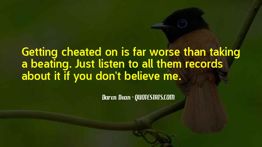 Quotes About Getting Cheated #1363727